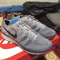 686925749e58 JUAL NIKE FLYKNIT TRAINER ATMOSPHERE GREY UK 44 BNIB ORIGINAL 100%