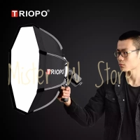 TRIOPO 65cm Portable Outdoor Octagon Softbox for Universal flash