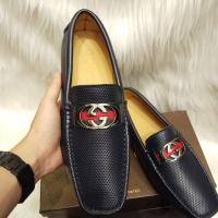 GU CCI-jual sepatu pria branded loafers pesta kantor Navy