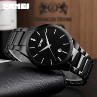 Jam Tangan Analog Pria Original SKEMI 9140 Dengan Desain Yang Simple