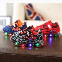 Sepatu spiderman LED Anak-anak size 21-25