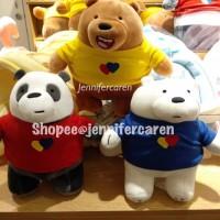 Harga miniso boneka we bare bears costume standing stand doll new | Pembandingharga.com
