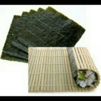 Murah nori 10s + Sushi mat|penggulung sushi|nori takaokaya|rumput laut