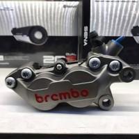 Kaliper brembo 4 piston 1pin grey