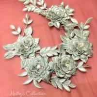 Renda Bunga Silver