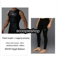 Paket Baselayer Manset Lekbong Singlet + Celana Legging leging Panjang