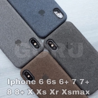 canvas case iphone 6 6s plus + 7 8 plus bahan motif soft hard original