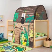 IKEA KURA Tenda Penutup Tempat Tidur Cokelat