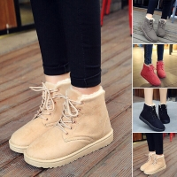Sepatu bot suede bulu musim dingin/Winter ankle boots women
