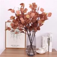 Eucalyptus Daun Plastik - Coklat