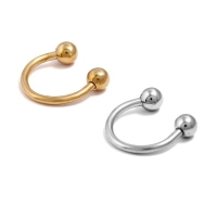 ROUND BALL EARRINGS GOLD SILVER FOR UNISEX / ANTING PIERCING