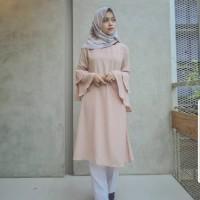 Terusan Wanita Muslimah Baju Panjang Lengan Terompet | Rein Midi Dress
