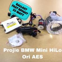 Paket Projector projie HID Mini BMW ballast 55W FastBright Ori AES pcs