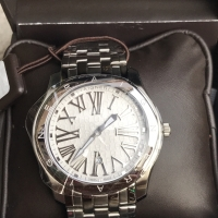 JAM TANGAN PRIA AIGNER LAZIO A42000 GENTS WATCH STAINLESS STEEL WHITE
