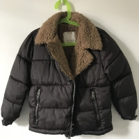 Kids Boys Quilted Jacket Parka Cotton Padded Winter Warm School Outwear D020
