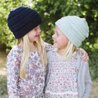 Topi kupluk rajut wol anak musim dingin/Winter wool beanie hat kids