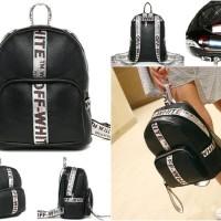 tas ransel backpack fashion silver blink payet impor wanita jalan bags
