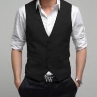 Vest rompi jas hitam Big size XXXXL/ 4L tuxedo pria