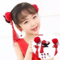 Jepitan anak aksesoris rambut imlek sincia chinese style hairclip