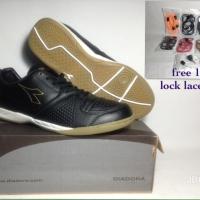 Sepatu Futsal Original 100% Diadora Dia Giante Id Black DIAX7F1106BL