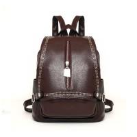 tas ransel back pack coklat brown camel kulit leather wanita import