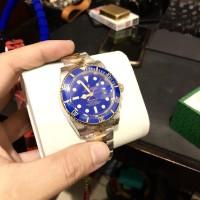 Jam tangan rolex submariner two tone blue gold clone mirror original