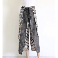 Celana kulot panjang batik cap katun primis wanita murah