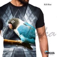 Blb blue kaos burung lovebird kicau mania 3d fullprint