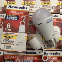 LAMPU EMERGENCY LED HANNOCHS GENIUS 6 W 6W WATT EMERGENCY LAMP ACDC