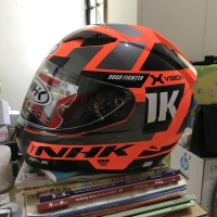 Helm NHK GP1000 Ultra SE X-Vision Orange Silver