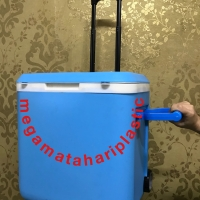 Cooler Box 37 Liter Sanata Dengan Handle + Roda + Gagang Trolley