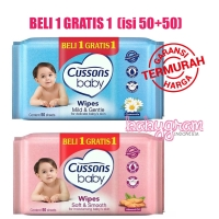 Cussons Baby Wipes 50s / Promo Tisu Tissue Basah Cussons Baby Wipes