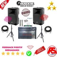 PAKET SOUND SPEAKER AKTIF MACKIE 15 INCH PLUS MIXER 12 CH DAN MICROPHO