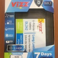 Baterai Vizz lenovo a6000 BL 242 / BL242 double power batre batere