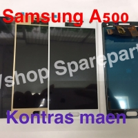 Lcd Touchscreen Samsung A500 A5 2015 Black White Gold Kontras Main