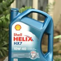oli shell helix hx7 sae 10w-40 galon 4 liter