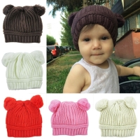 My Double Pom Beanie Hat   topi kupluk panda import anak bayi a014dd3010