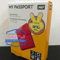WD My Passport NEW 2TB - HD / HDD / Hardisk Eksternal / External Red