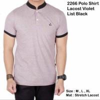 Polo shirt lacost violet list black