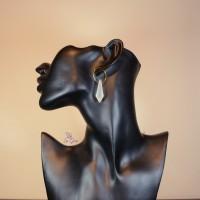 Anting Crystal REGAN Handmade Hoop Earrings