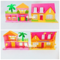 Mainan rumah rumahan barbie villa villaku + tempat tidur sofa + boneka