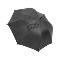 """Payung Panjang Polos Hitam dalam Silver 24"""" + sarung kain"""