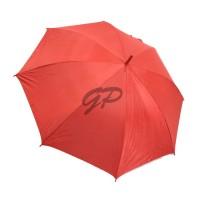 """Payung Panjang Polos Merah 24"""" dalam Silver + sarung kain"""