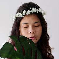 Flower Crown / Mahkota Baby Breath - Bunga Palsu