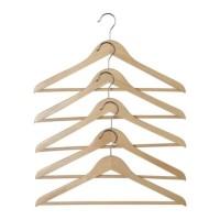 Harga 1 ikea gantungan pakaian hanger baju bahan kayu set 5 | antitipu.com