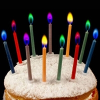 5 colour flame birthday candles / lilin api warna