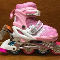 Sepatu roda import warna pink putih