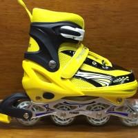 Sepatu roda import warna kuning hitam