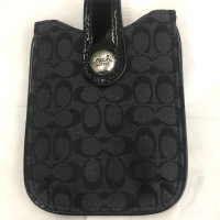 Authentic Coach Black Signature Pouch
