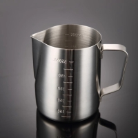 Milk jug pitcher dengan garis 600ml measurement latte jug stainless st